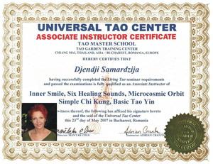Sertifikat Universal Tao Centra